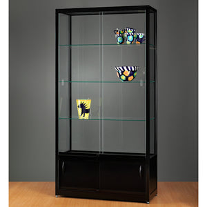 Aspire WME 1000 Glass Display Cabinet with Storage black