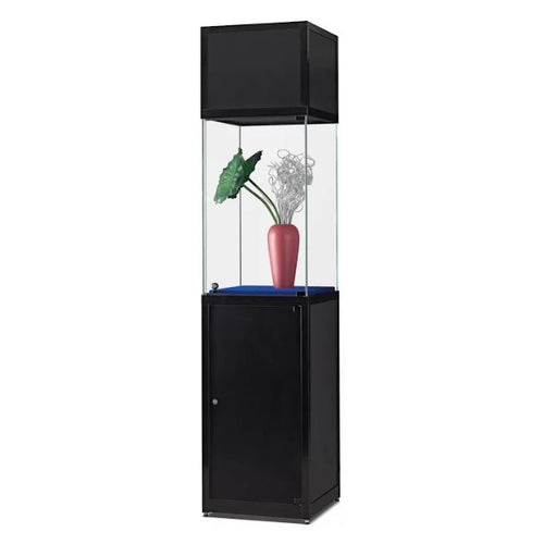 Nexus SV1 500 pedestal with high glass display, header and storage