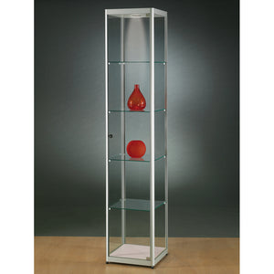 Aspire MPC 400 Glass Display Cabinet silver