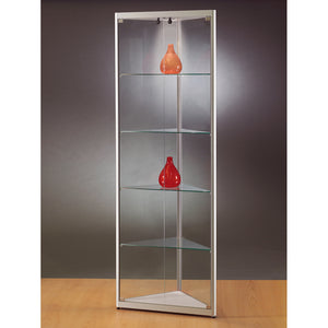 Aspire MPC 500 Glass Corner Display Cabinet silver