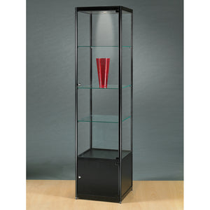 Aspire MPC 500 Glass Display Cabinet with Storage black
