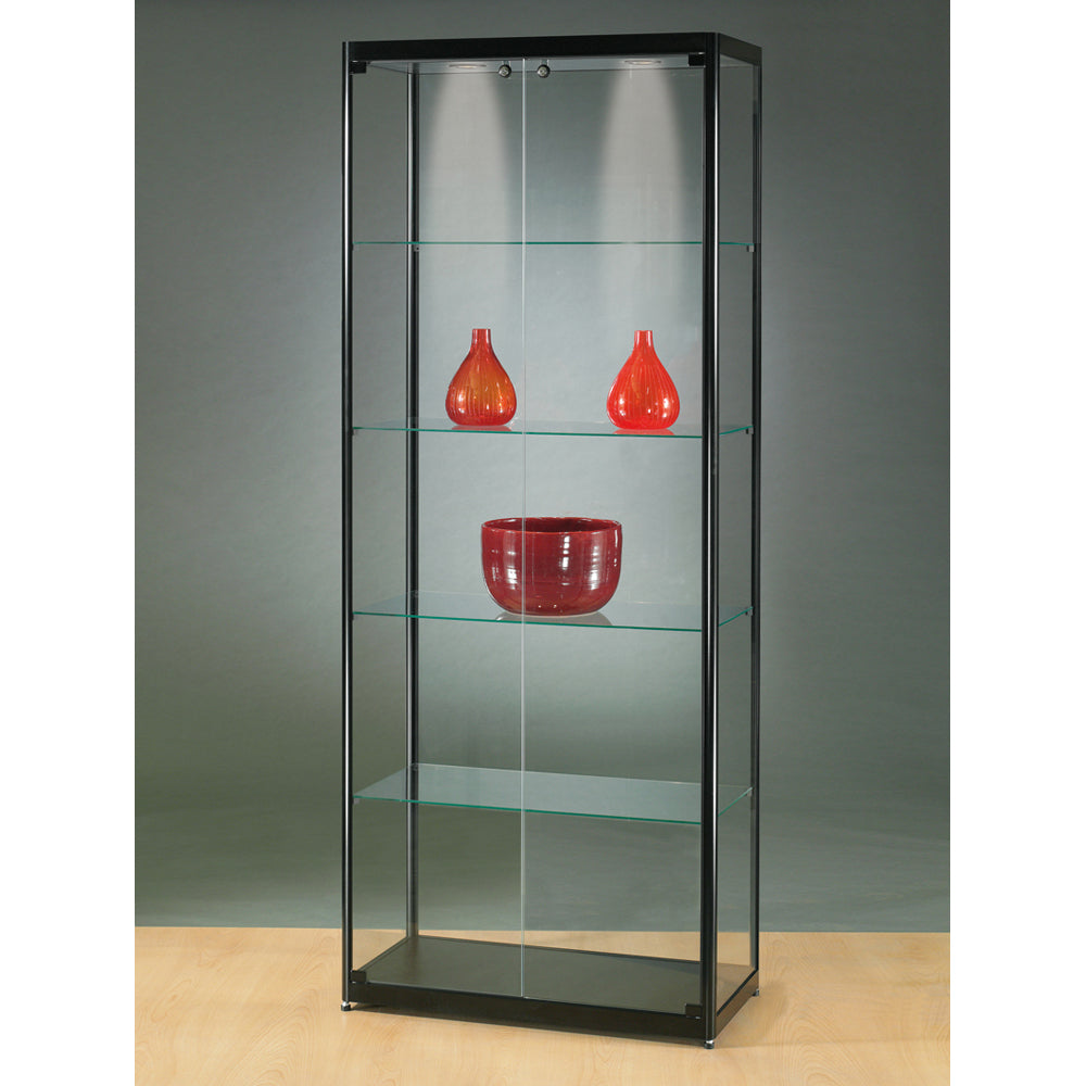 Aspire MPC 800 Front Opening Glass Display Cabinet black