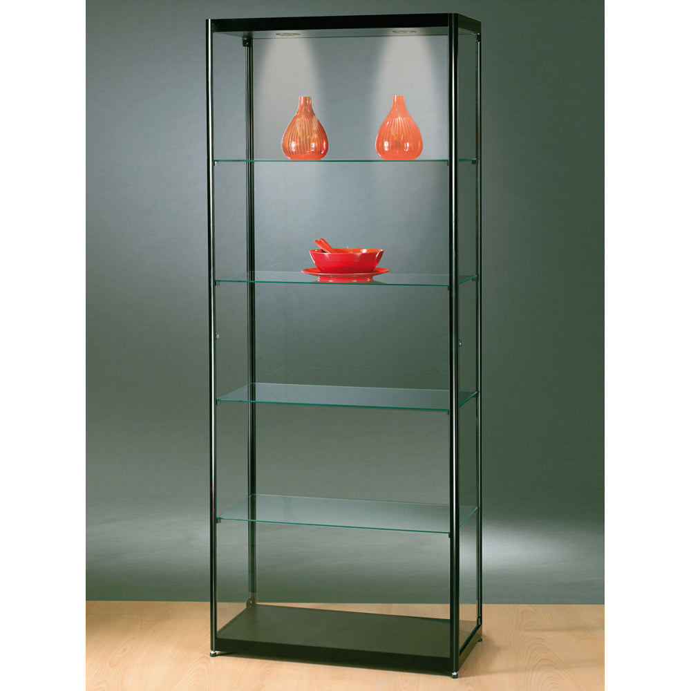Aspire MPC 800 Side Opening Glass Display Cabinet black
