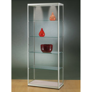 Aspire MPC 800 Side Opening Glass Display Cabinet silver