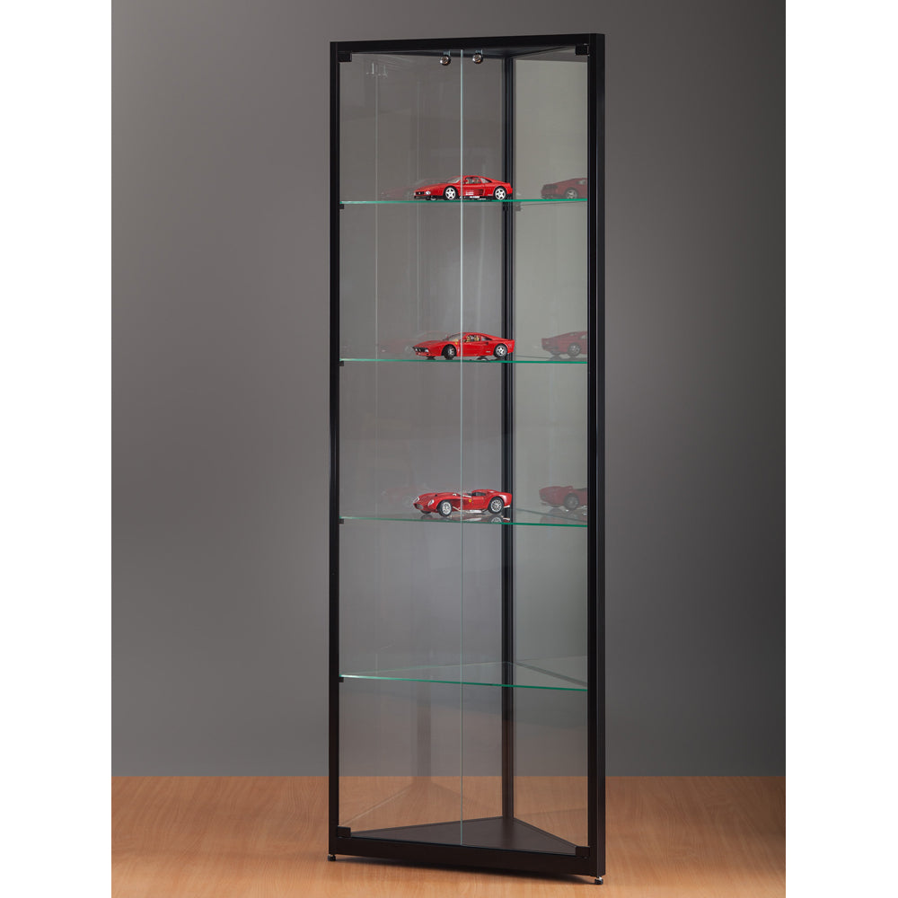 Aspire WMS 500 Glass Corner Display Cabinet black