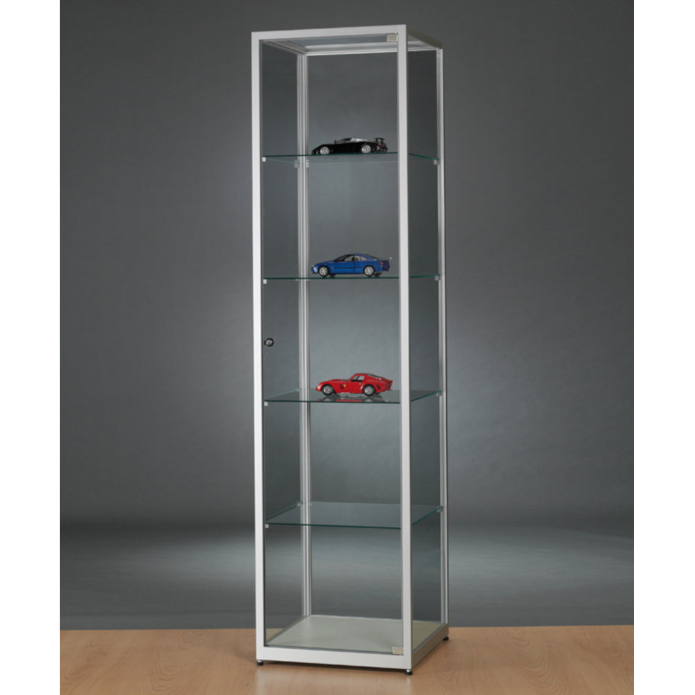 Aspire WMS 500 Glass Display Cabinet silver