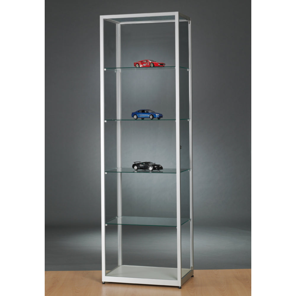 Aspire WMS 600 Glass Display Cabinet silver