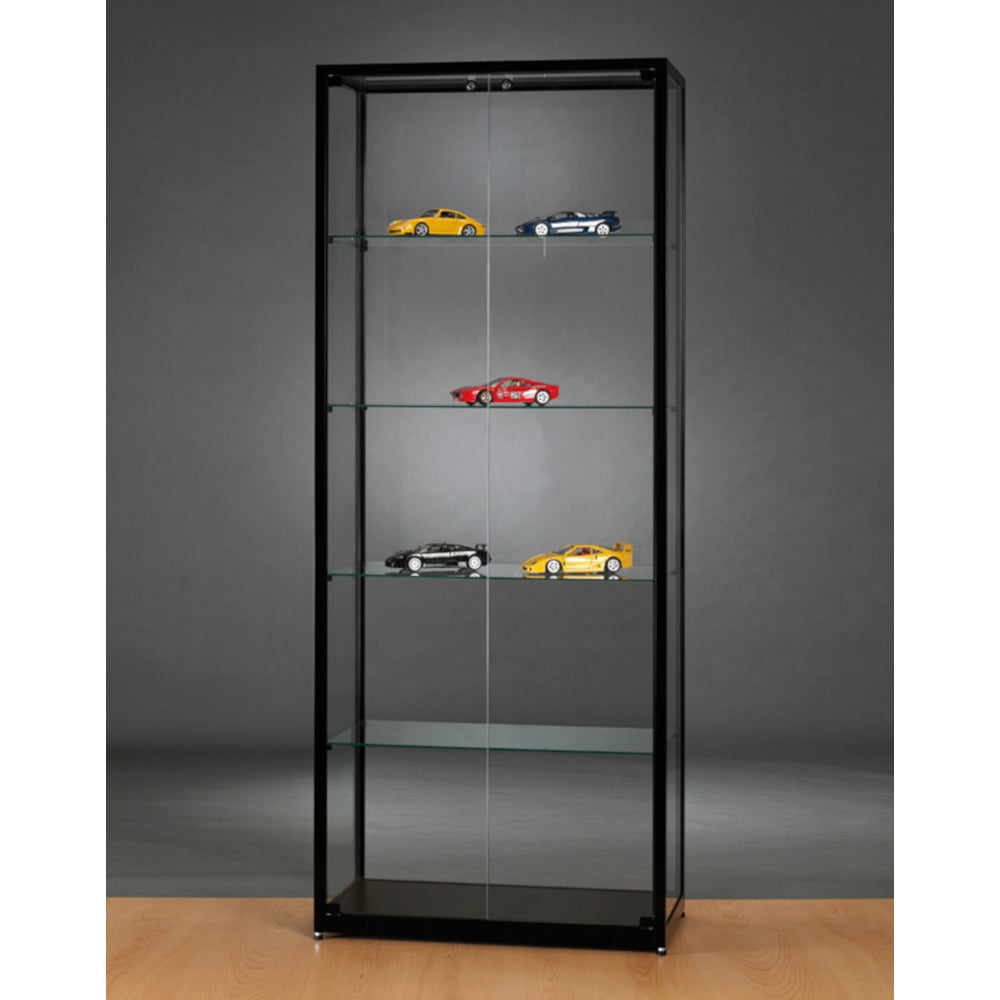 Aspire WMS 800 Front Opening Glass Display Cabinet black
