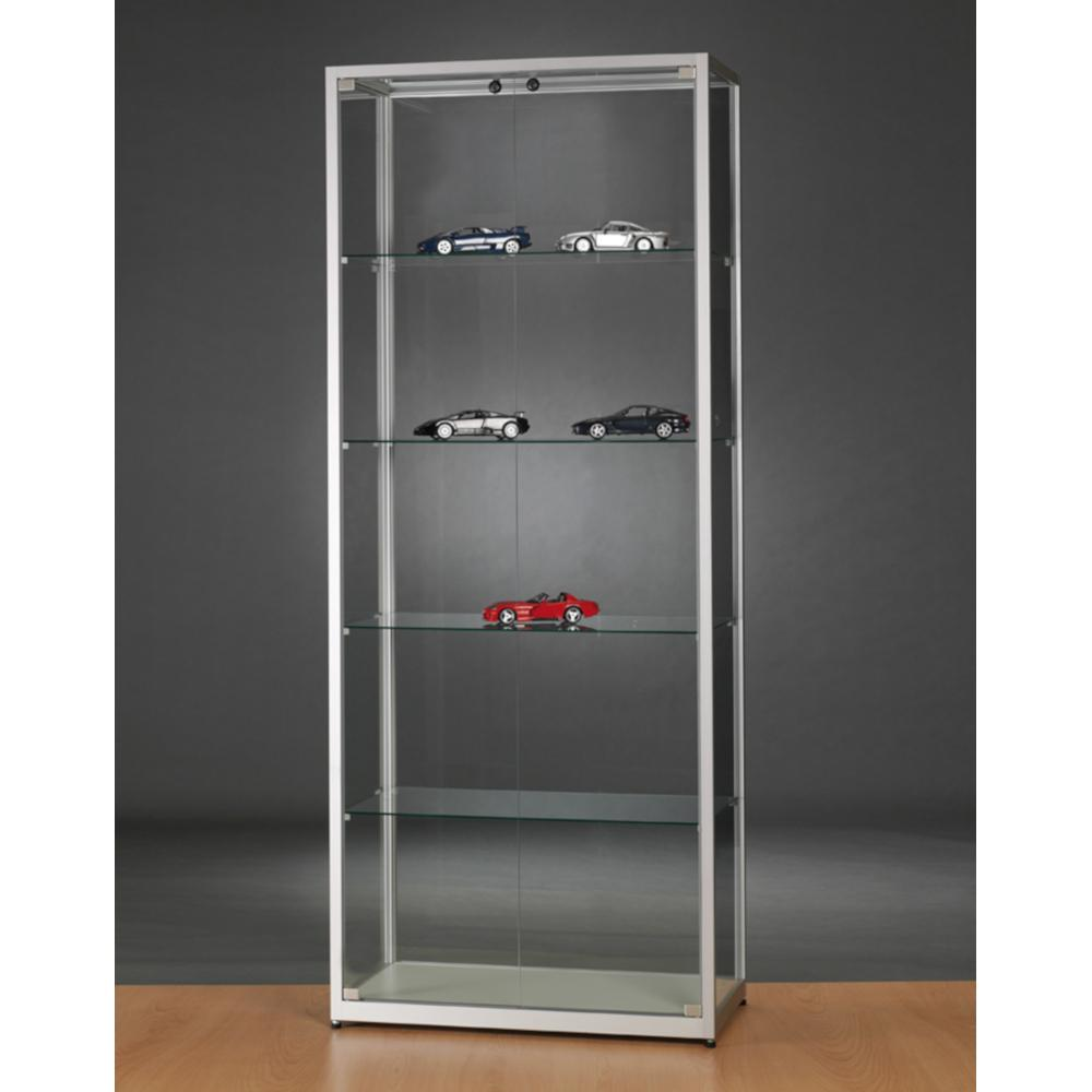 Aspire WMS 800 Front Opening Glass Display Cabinet silver