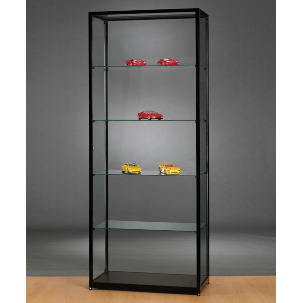 Aspire WMS 800 Side Opening Glass Display Cabinet black