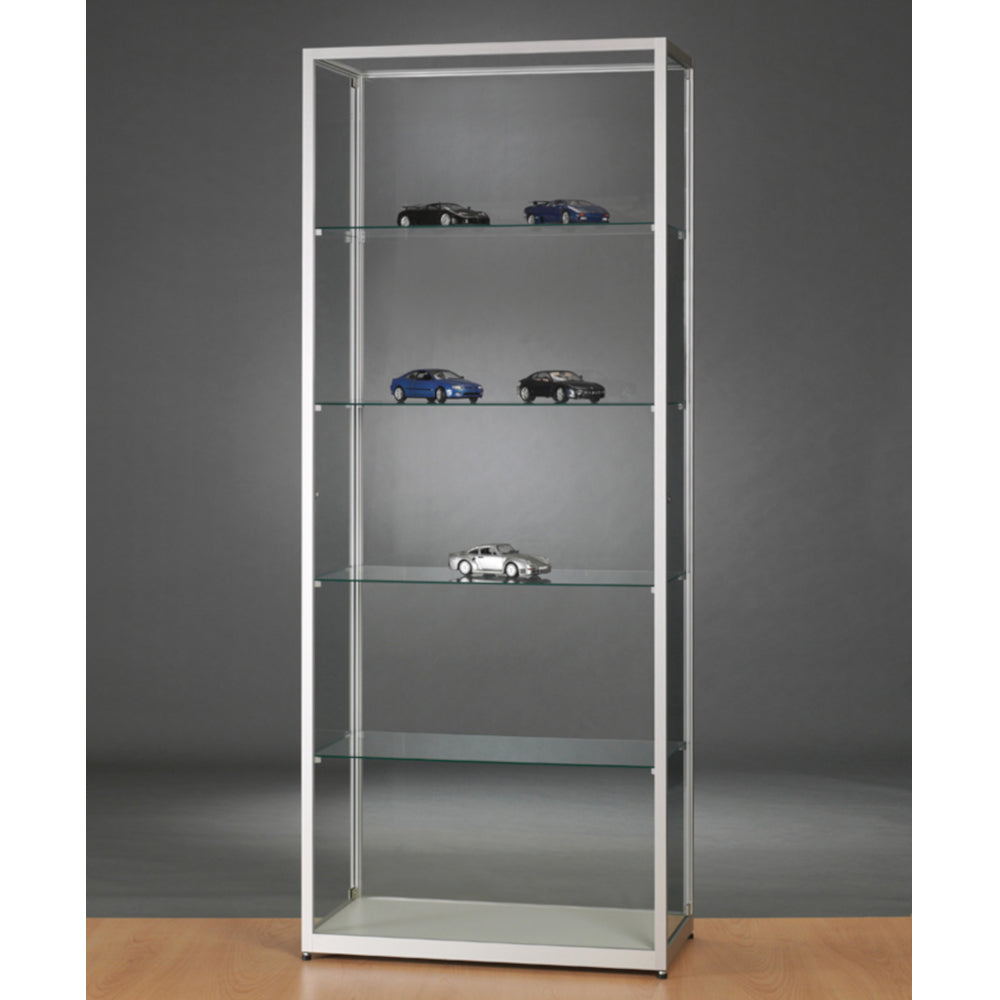 Aspire WMS 800 Side Opening Glass Display Cabinet silver
