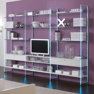 GlasSystem GS5 Media and Shelving Unit