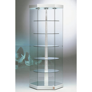 Kensington 201GB Hexagonal Glass Showcase