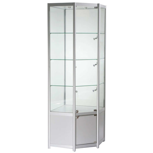 Lumina TCCN1 Corner Display Cabinet with Storage