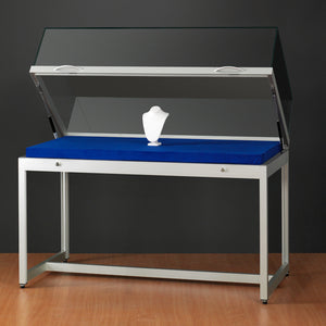 Genus TGV1200 Display Case with Gas Springs Silver Finish