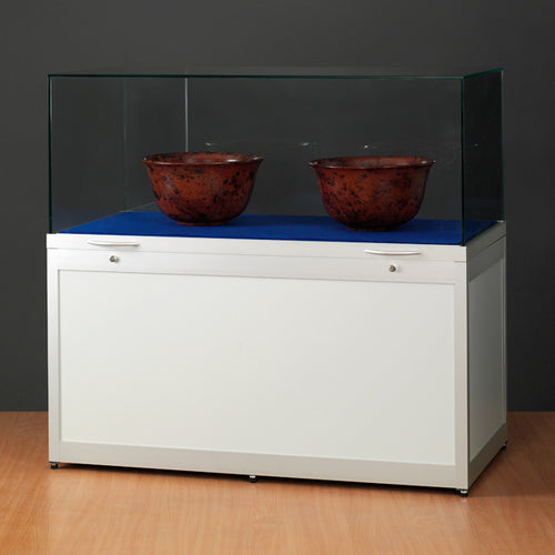 Genus TGV1000 Display Plinth with Gas Springs High Top Silver Finish