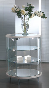 Elegance Lite Round Glass Display Counter