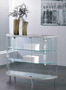 Elegance Lite Half Oval Glass Display Counter