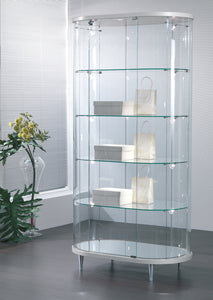 Elegance Lite Oval Display Showcase