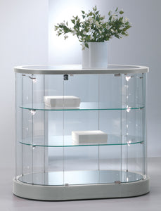 Elegance Oval Display Counter