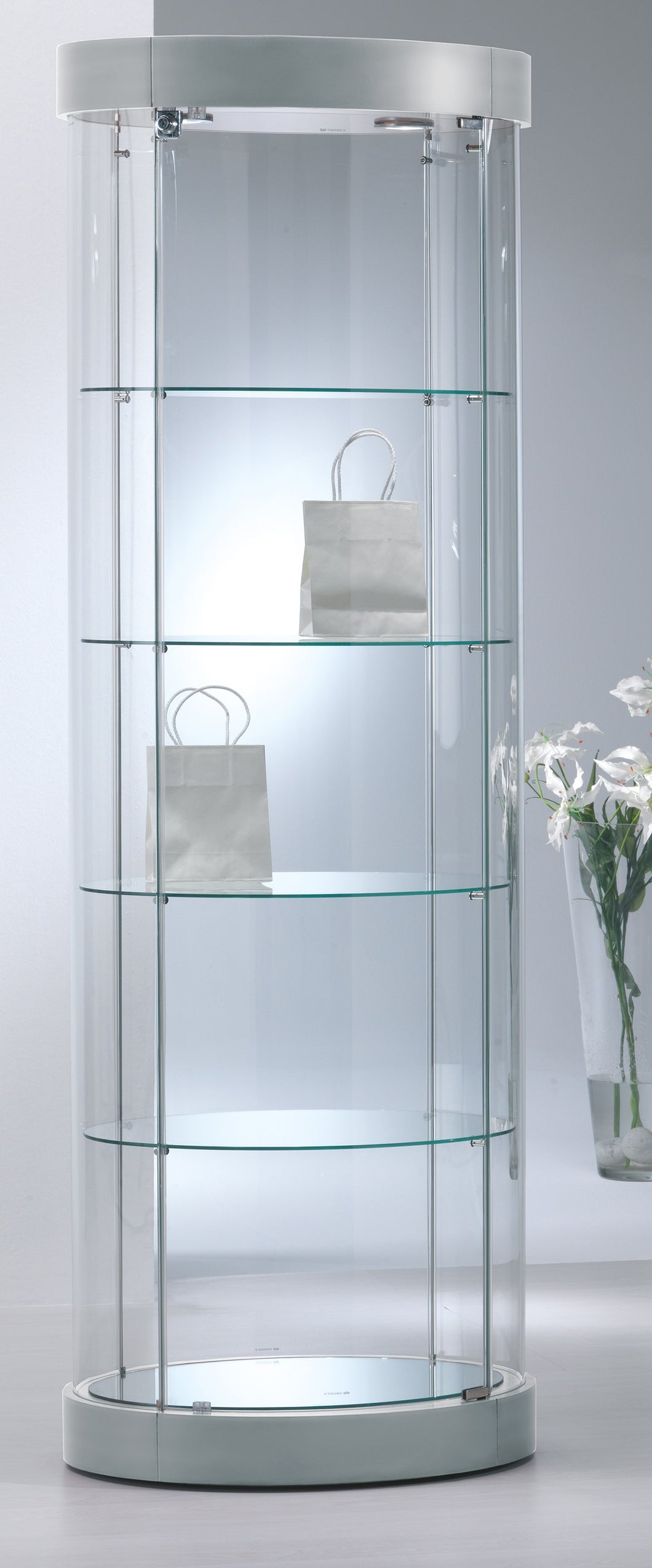 Elegance Oval Display Showcase