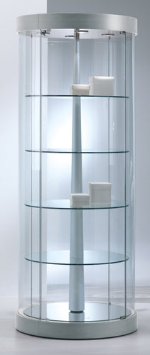 Elegance Round Revolving Display Showcase
