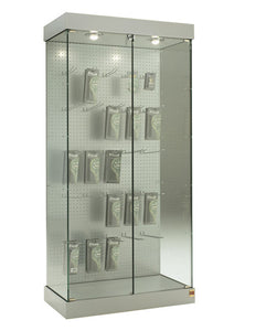 Premier 131BL Display Showcase with Pegboard