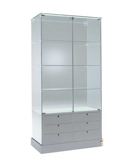 Premier 100 Display Showcase with Drawers