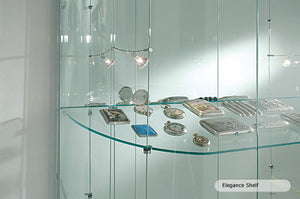 Elegance Round Glass Display Showcase
