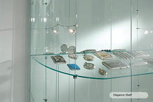 Elegance Lite Half Oval Display Showcase