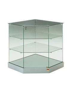Premier 92 Glass Top Corner Display Counter