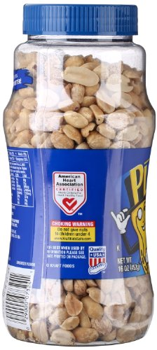 Planters Peanuts, Dry Roasted & Unsalted, 16 Ounce Jar