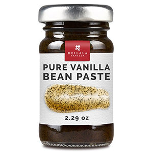 Gourmet Pure Vanilla Bean Pastes - Organically Grown, Contains Whole Vanilla Seeds from Hand Picked Heilala Vanilla Pods, All Natural, Superior to Tahitian, Mexican or Madagascar Paste