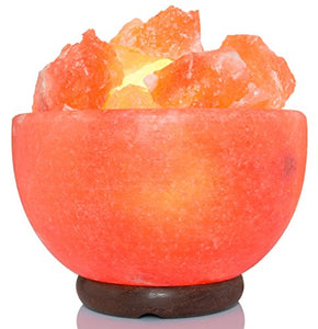 Himalayan Rock Salt Lamp Fire Bowl