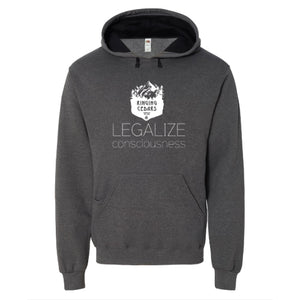 Legalize Consciousness Pullover Hoodie Mens/Unisex - Charcoal Grey Heather