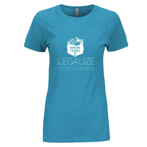 Legalize Consciousness Short Sleeve T-Shirt Womens - Teal