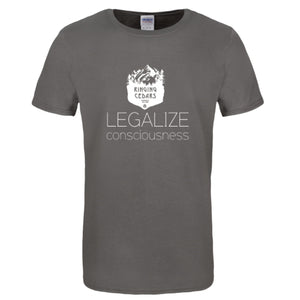 Legalize Consciousness Short Sleeve T-Shirt Mens/Unisex - Charcoal Grey