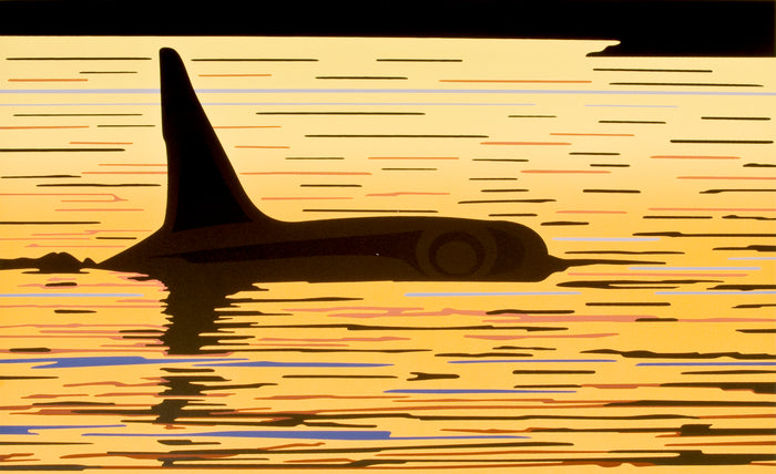 ORCA SUNSET - POSTER