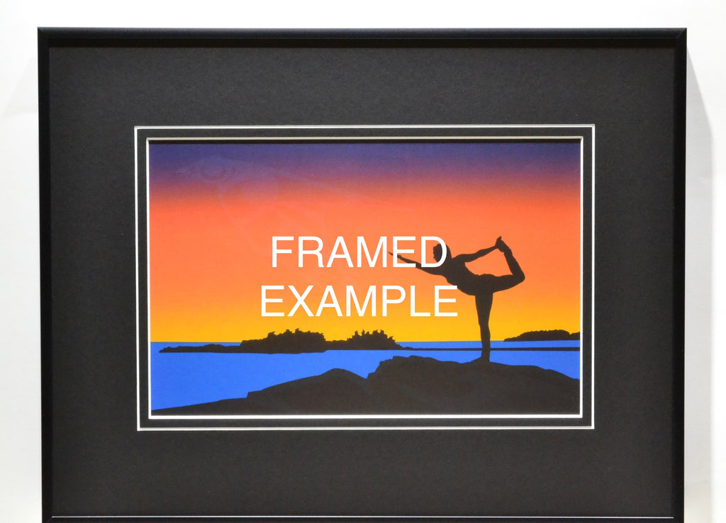 Eagle's Sunset - Framed LITHOGRAPH