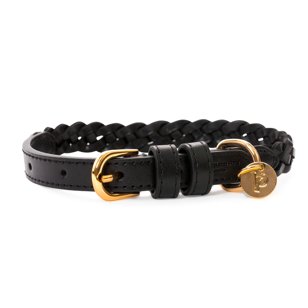 VP Pets Handwoven Collar - Black - Vanderpump Pets