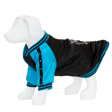 Load image into Gallery viewer, F&R for VP Pets Satin Baseball Jacket - Black/Blue - Vanderpump Pets