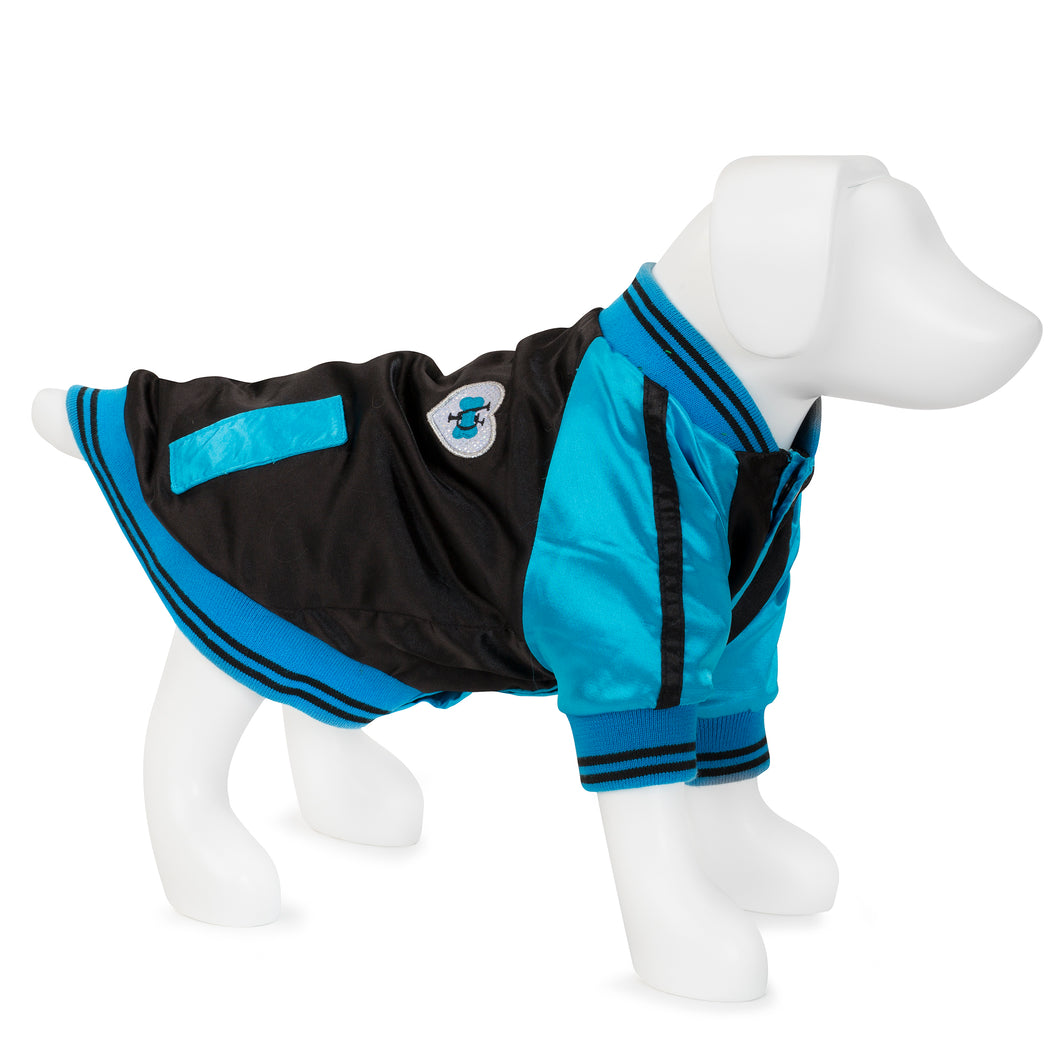 F&R for VP Pets Windbreaker Baseball Jacket - Blue - Vanderpump Pets