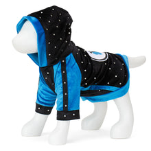 Load image into Gallery viewer, F&R for VP Pets Hoodie with heart Patch - Black/Blue - Vanderpump Pets
