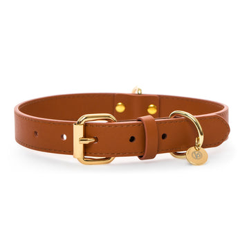 VP Pets Classic Ken Collar - Brown - Vanderpump Pets