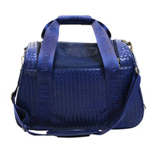 Load image into Gallery viewer, Vanderpump Graphite Duffle Pet Carrier - Navy Blue - Vanderpump Pets