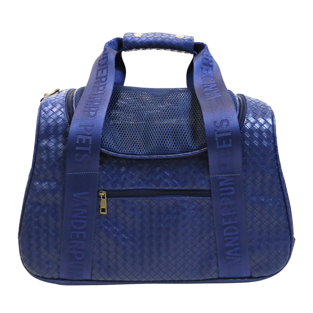 Vanderpump Graphite Duffle Pet Carrier - Navy Blue - Vanderpump Pets