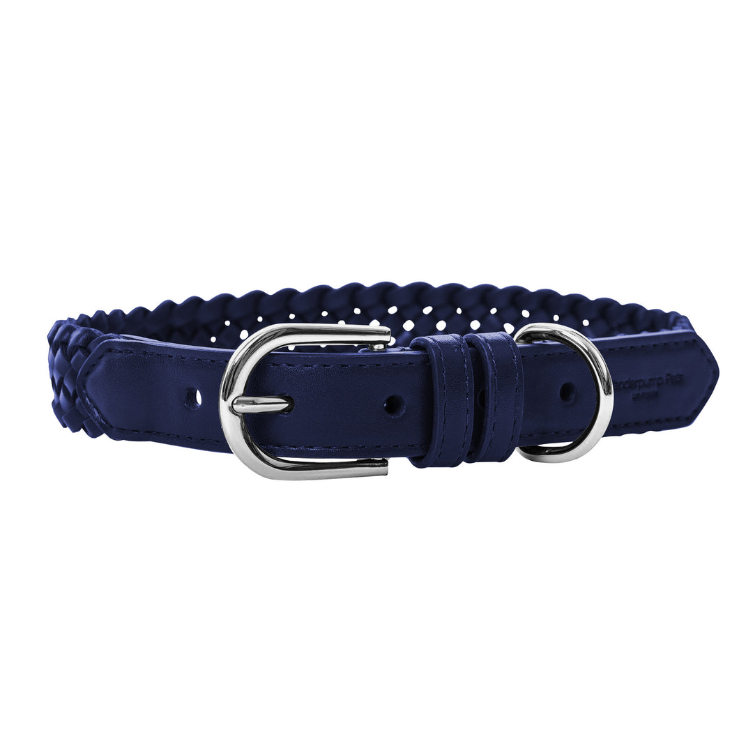 VP Pets Handwoven Collar - Navy Blue - Vanderpump Pets