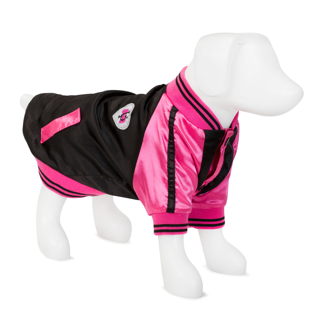 F&R for VP Pets Windbreaker Baseball Jacket - Pink - Vanderpump Pets