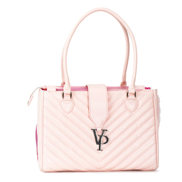 Vanderpump Monogramme Strap Pet Carrier - Light Pink - Vanderpump Pets