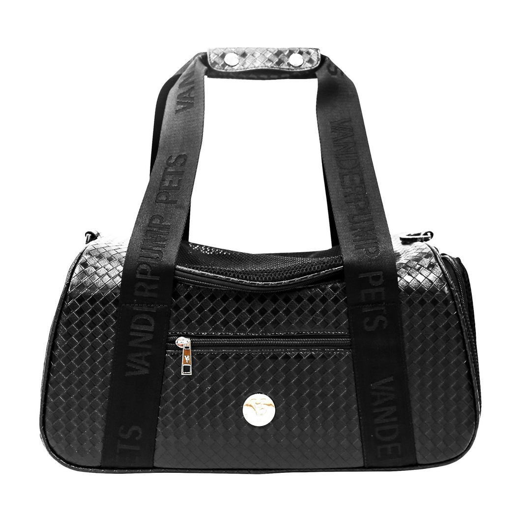 Vanderpump Graphite Duffle Pet Carrier - Black - Vanderpump Pets